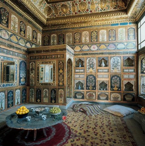 Enderun Library (Library of Ahmed III) , The fruit room with painted walls, Topkapı Palace, Istanbul, 1954
